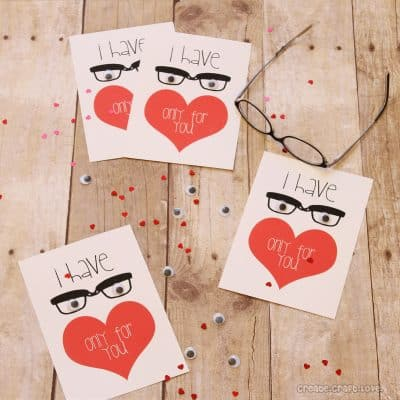 """Eyes"" Only For You {FREE Valentine Printable}"