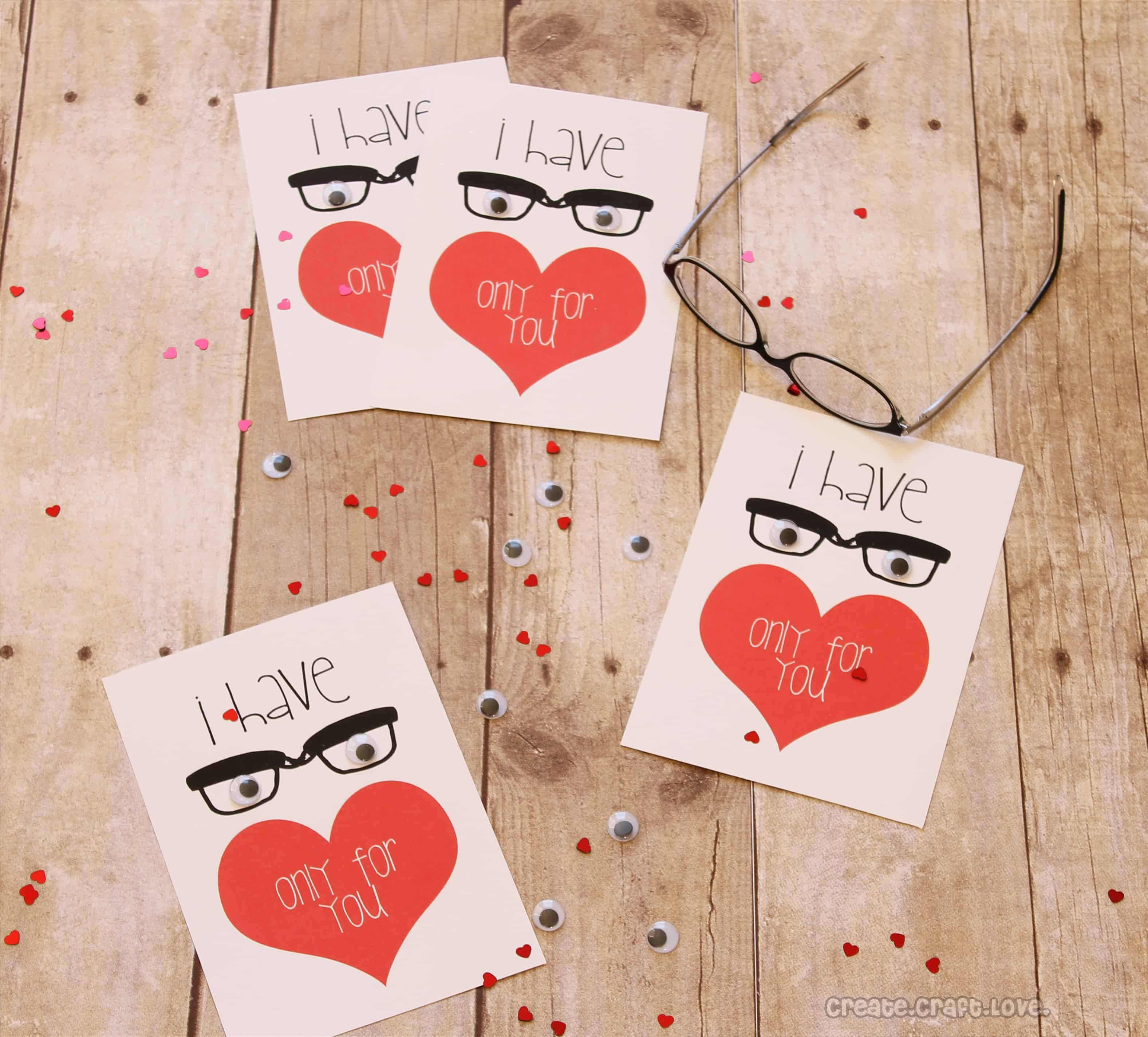 eyes only for you valentine printable - Valentine Ideas Crafts