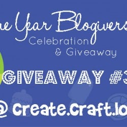 One Year Blogiversary Giveaway #3