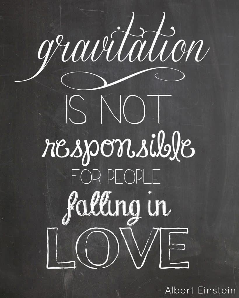 Free Valentine Chalkboard Printables with Einstein quote @createcraftlove.com #printables #valentinesday #lovequotes