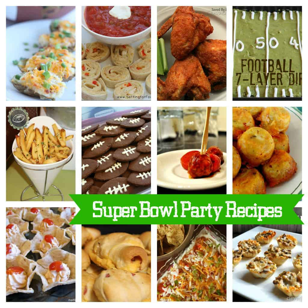 Super Bowl Party Recipes at createcraftlove.com #recipes #superbowl #football
