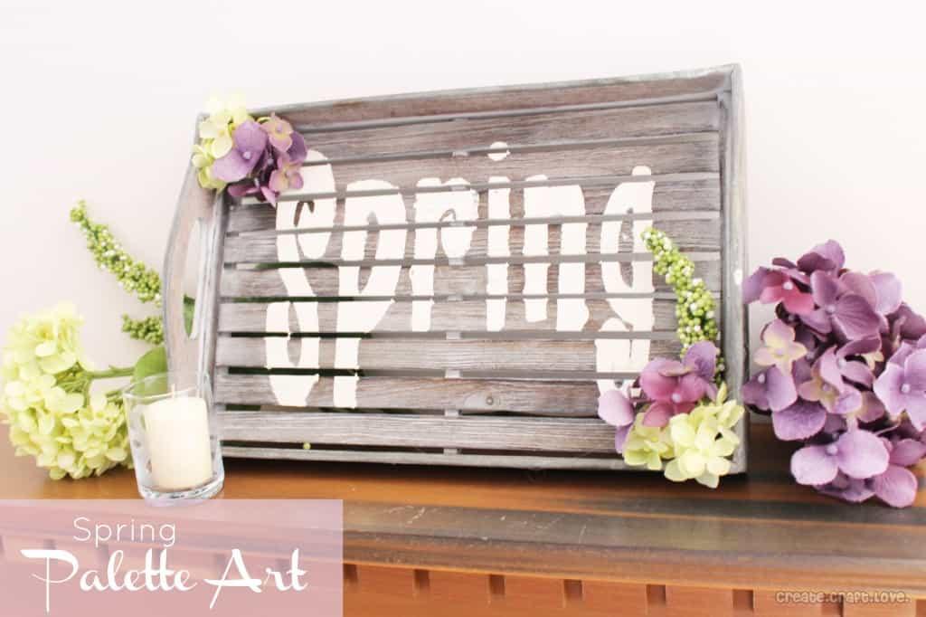 Spring Palette Art at createcraftlove.com #spring #palettes