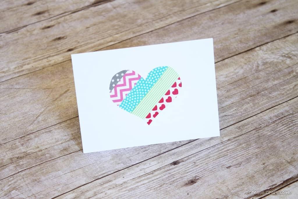 Washi Tape Valentines via createcraftlove.com #valentines #washitape