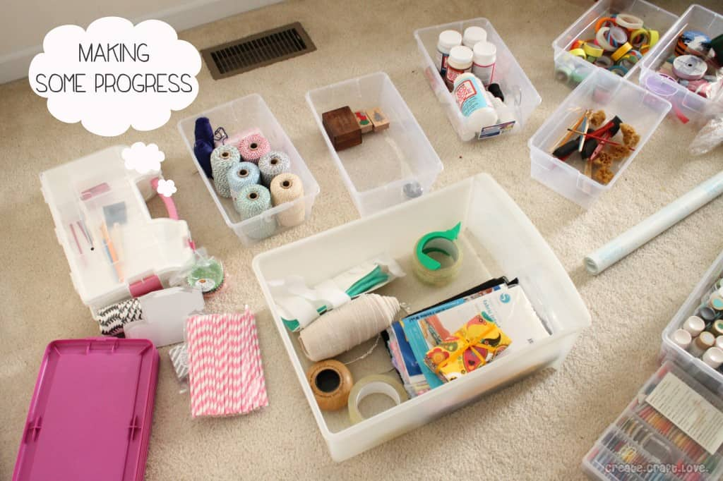 Craft Hoarders - how to organize your crafting space #organization