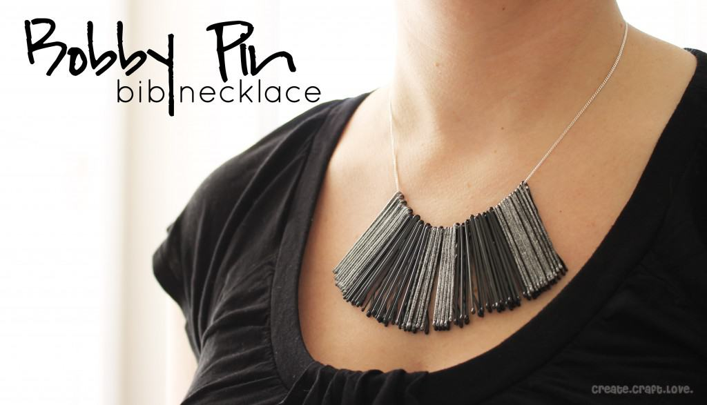 Bobby Pin Bib Necklace via createcraftlove.com #jewelry