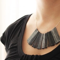 Bobby Pin Bib Necklace