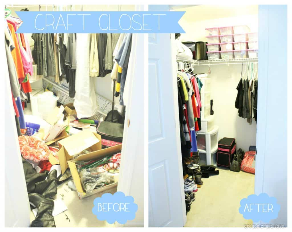 Craft Hoarders - how to organize your crafting space via createcraftlove.com #organization