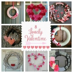 "8 ""Lovely"" Valentine Wreaths {Features from Keep Calm #27}"
