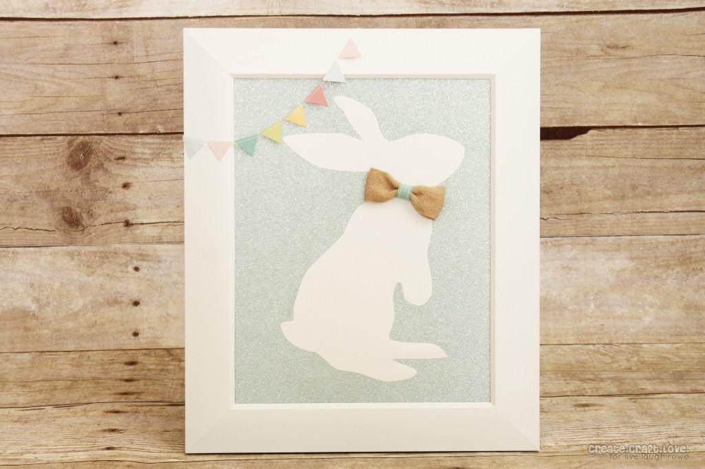 Bunny Silhouette Art via createcraftlove.com for livelaughrowe.com #bunny #easter #vinyl