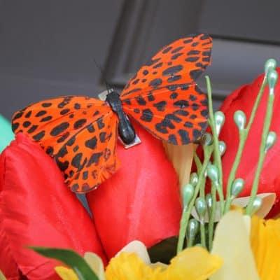 Garden Hose Spring Wreath via createcraftlove.com #spring #wreath #garden