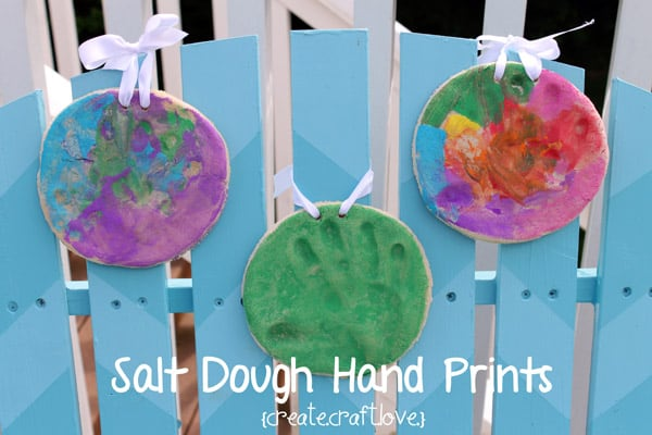 Salt Dough Hand Prints for Father's Day from createcraftlove.com #fathersday #kidscraft