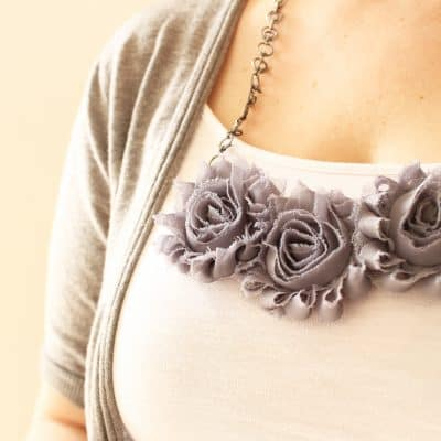 Easy Rosette Bib Necklace