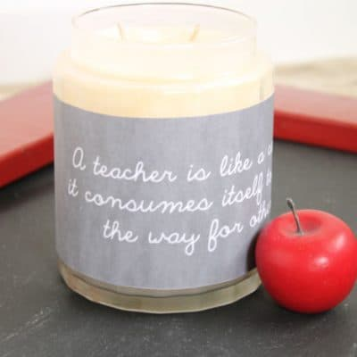 Candle Wrap Teacher Appreciation Printable