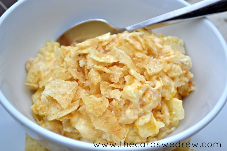 Cheesy Potatoes for 50 People http://www.createcraftlove.com/2013/05/50-summer-cookout-recipes.html