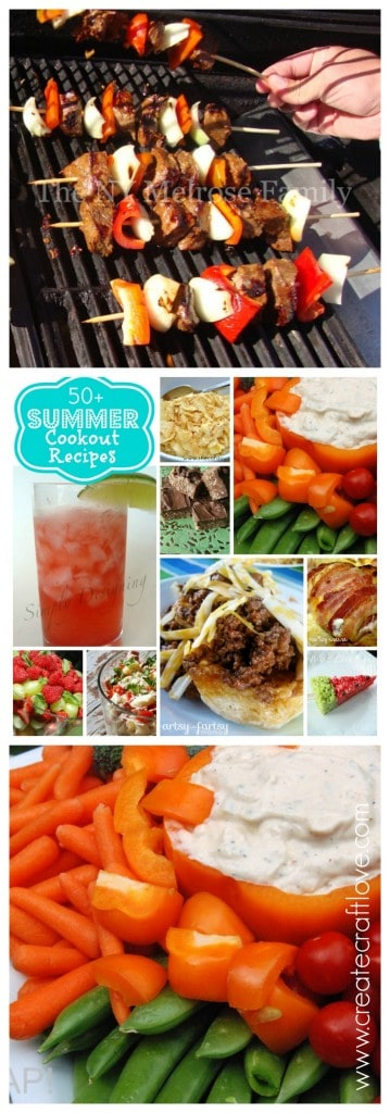 50+ Summer Cookout Recipes to kick start your summer!  via createcraftlove.com