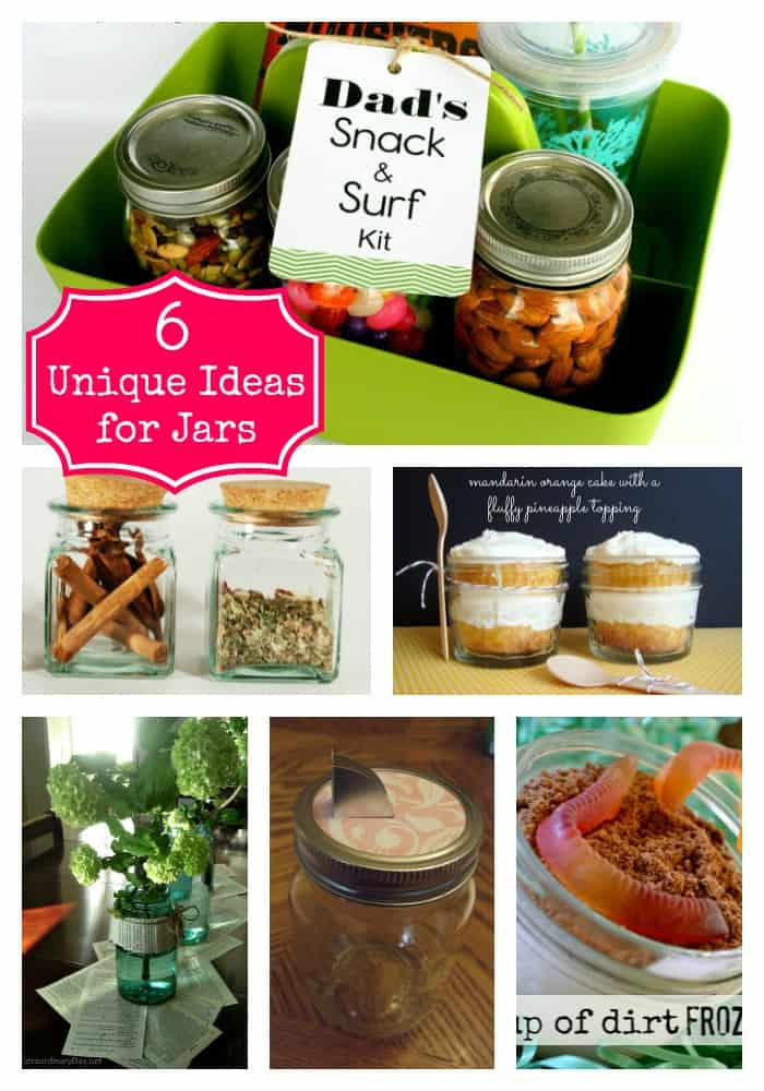 6 Unique Ideas for Jars - new and fun ways to use those extra jars around the house!  via createcraftlove.com #masonjars #features #linkparty