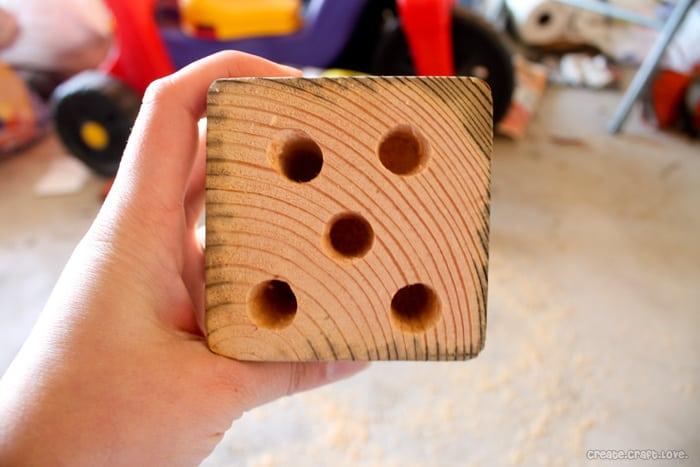 ryobi-drilled-wood