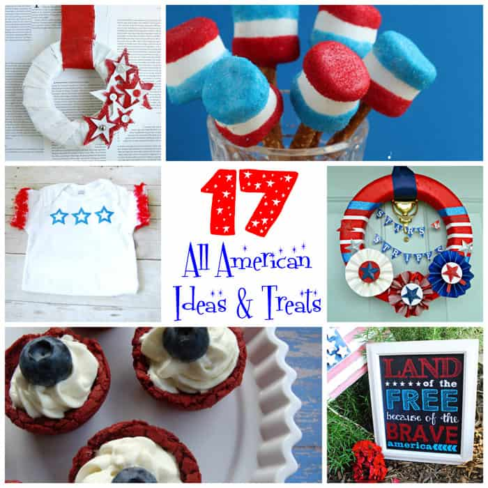 17 All American Ideas and Treats from createcraftlove.com #fourthofjuly #summer #features