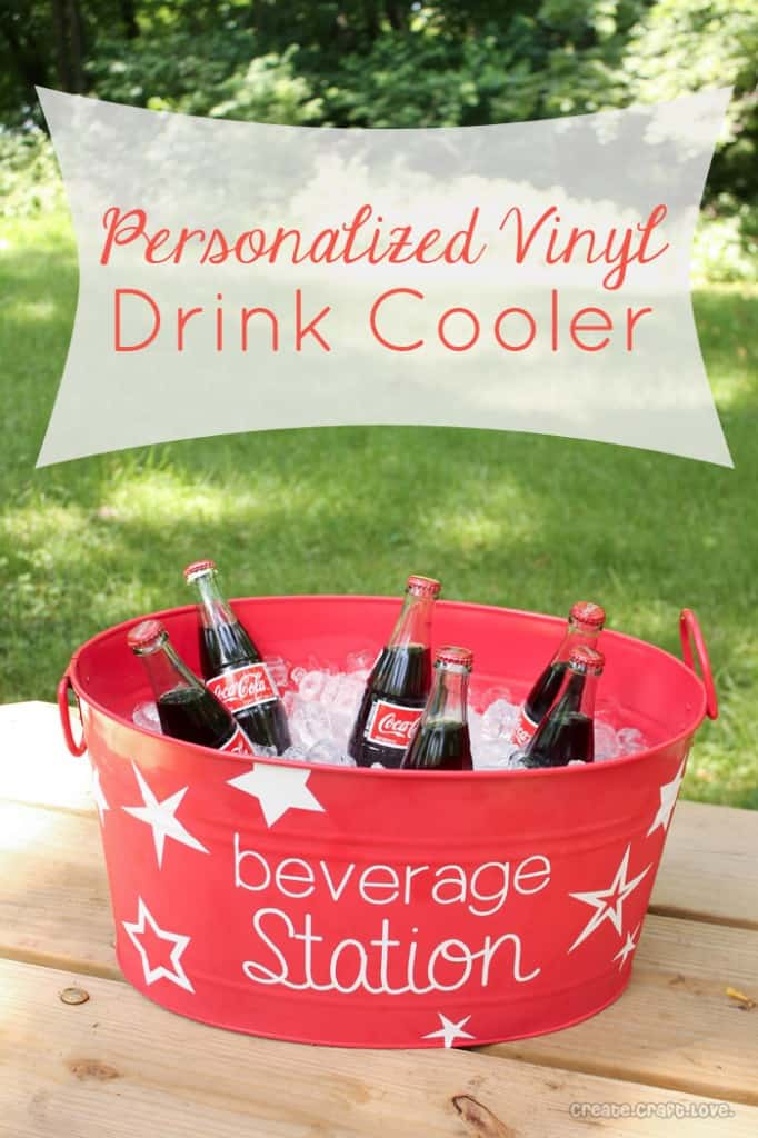 Personalized Vinyl Drink Cooler