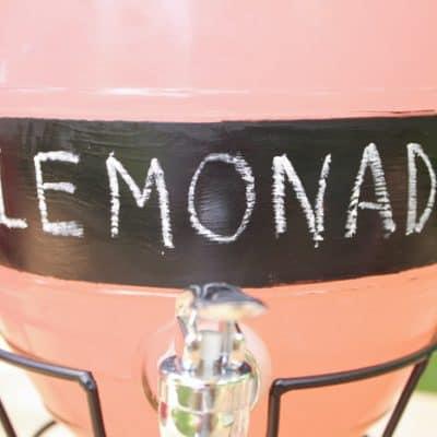 Chalkboard Labeled Beverage Dispenser