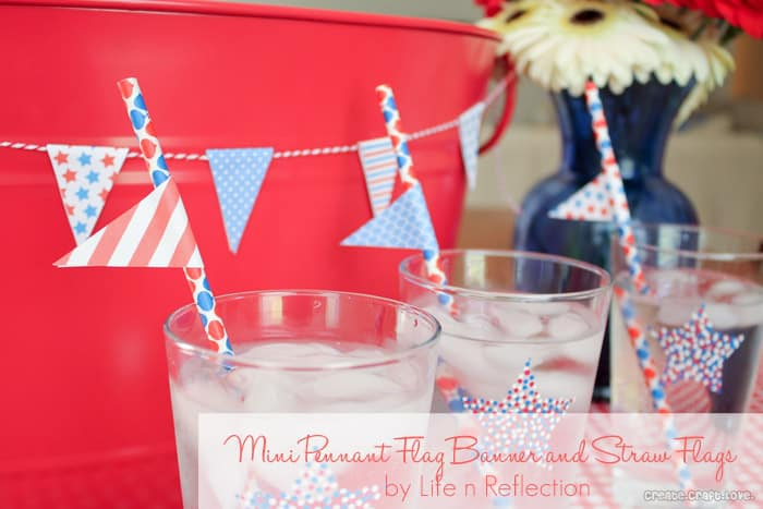 Mini Pennant Flag Banner and Straw Flags by Life-n-Reflection via createcraftlove.com #printables #partytimeclub #minipennantflag