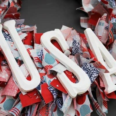 Stars and Stripes Rag Wreath