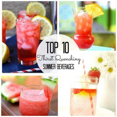 Top Ten Thirst Quenching Summer Beverages via createcraftlove.com #summer #drinks #features
