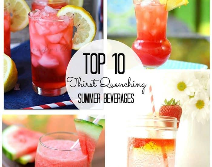Top Ten Thirst Quenching Summer Beverages via createcraftlove.com #summer #drinks #features