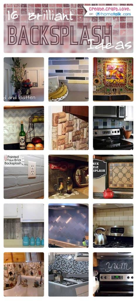 16 Brilliant Backsplashes from Hometalk via createcraftlove.com #backsplash #kitchen