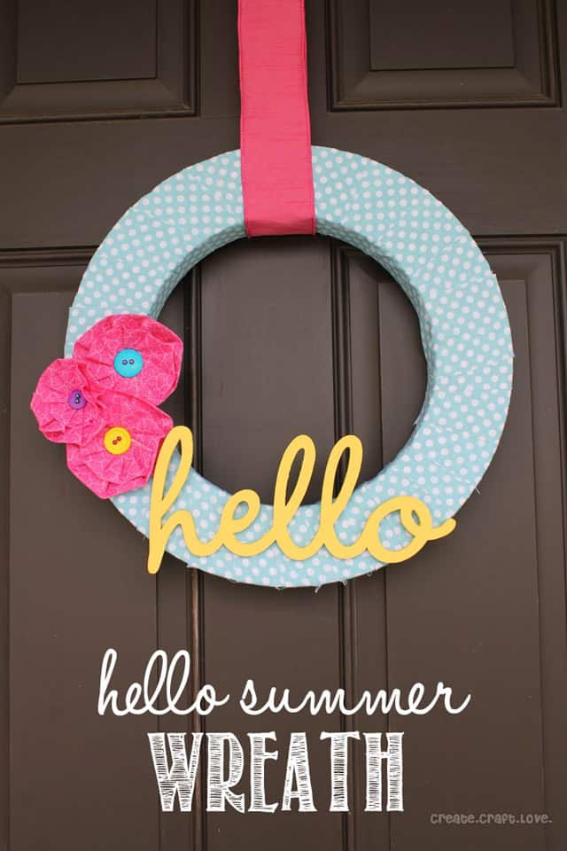 hello summer wreath w font