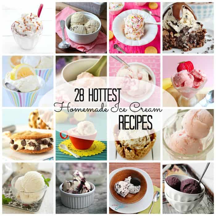 28 Hottest Homemade Ice Cream Recipes from createcraftlove.com #recipes #icecream #summer