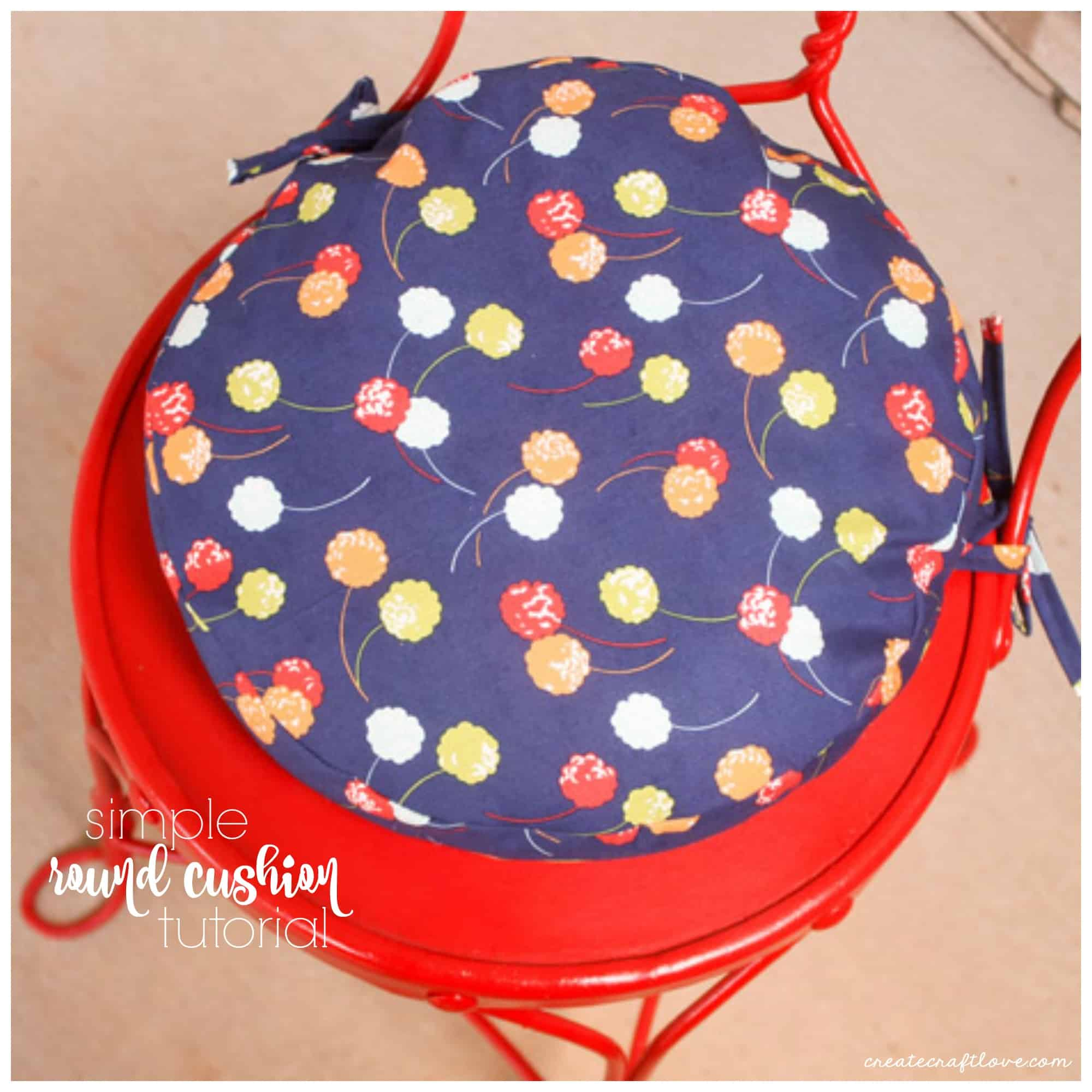 This Simple Round Cushion tutorial will walk you through how to create your own!