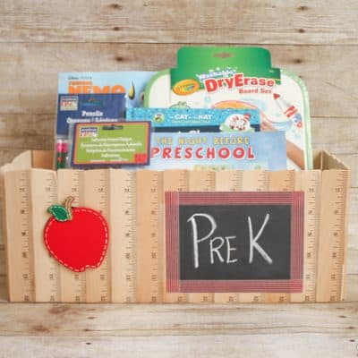 Ruler Basket | Back to School with Michaels via createcraftlove.com #backtoschool #rulerbasket #giftideas