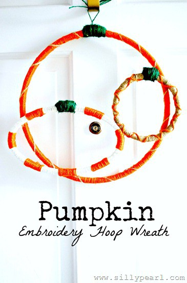 Pumpkin Embroidery Hoop Wreath - The Silly Pearl_thumb[3]