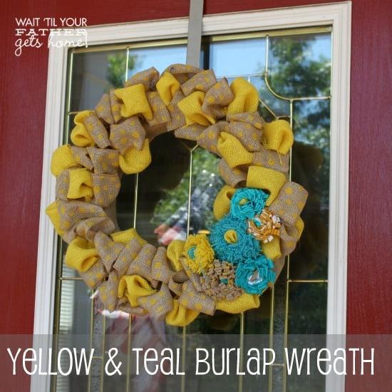 Yellow-Teal-Wreath