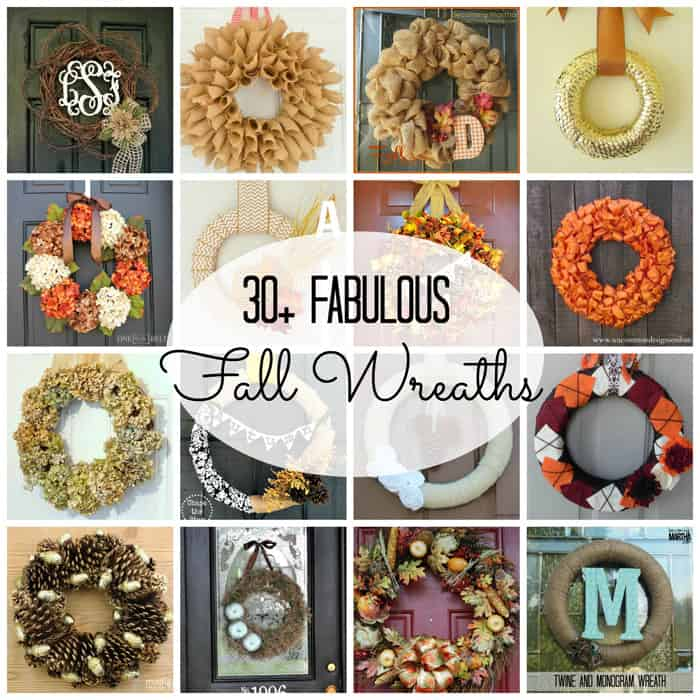 30+ Fabulous Fall Wreaths to get you in the mood for fall! #fall #wreaths #falldecor