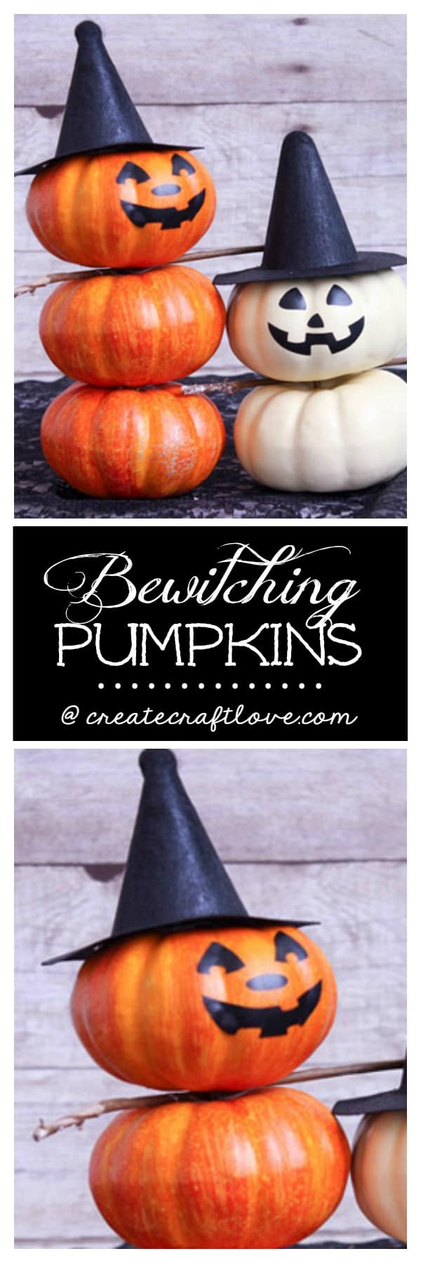 These Bewitching Pumpkins are a great Halloween decor idea!