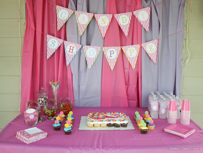 Celebrate your sweet little one with this Candy Shoppe Party by Dimpleprints!
