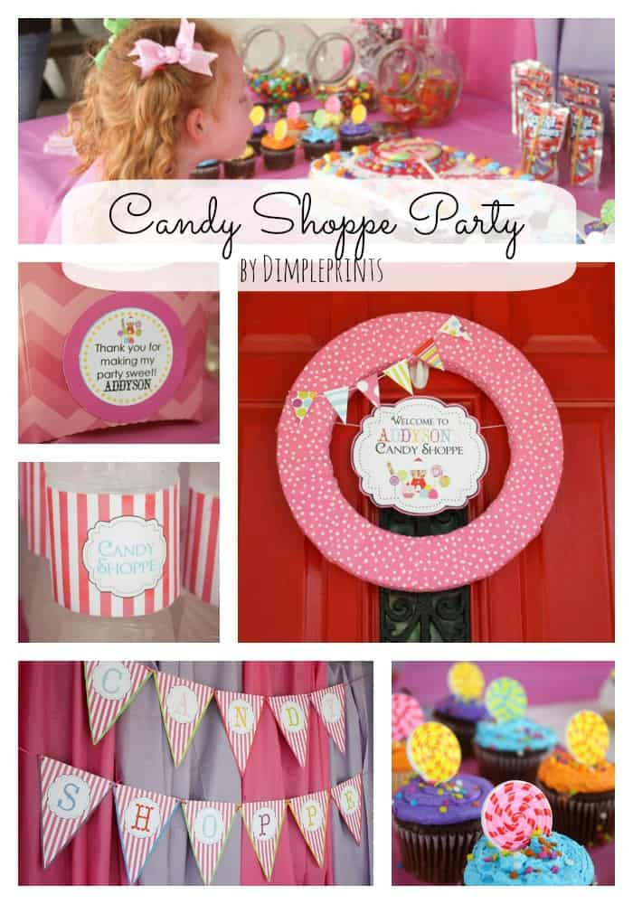 Celebrate your sweet little one with this Candy Shoppe Party by Dimpleprints! #candyshoppeparty #kidsparty #partyideas