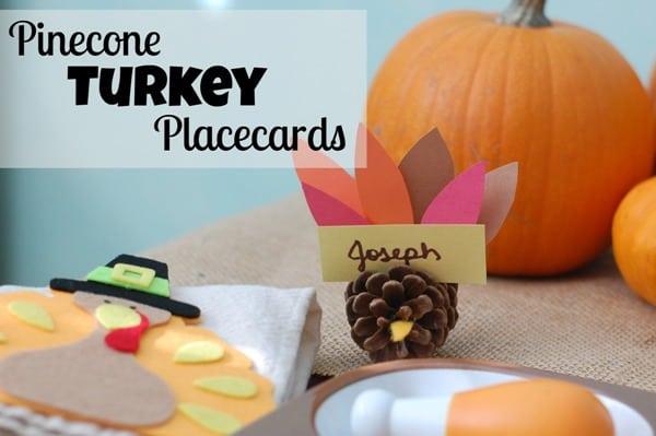 PineconeTurkeyCraftPlacecards