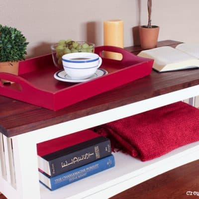 Farmhouse-Style Coffee Table Makeover