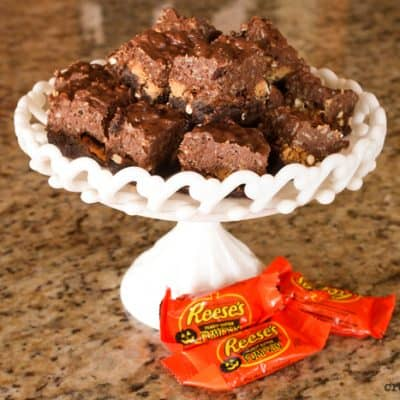PB Cup and Pretzel Brownies