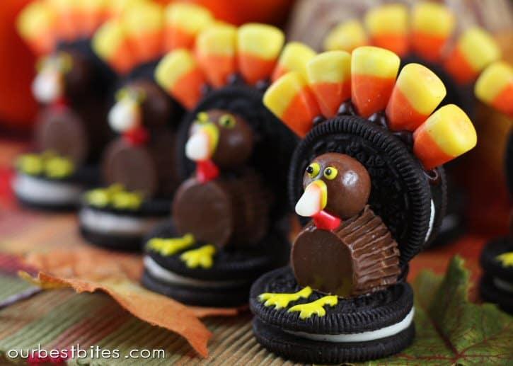 turkeys in a row