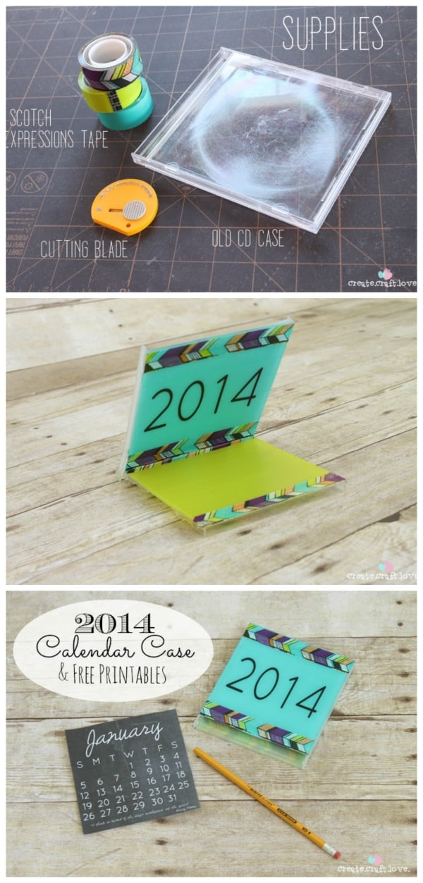 Everything you need to create your own 2014 Calendar Case including the FREE printable! www.createcraftlove.com
