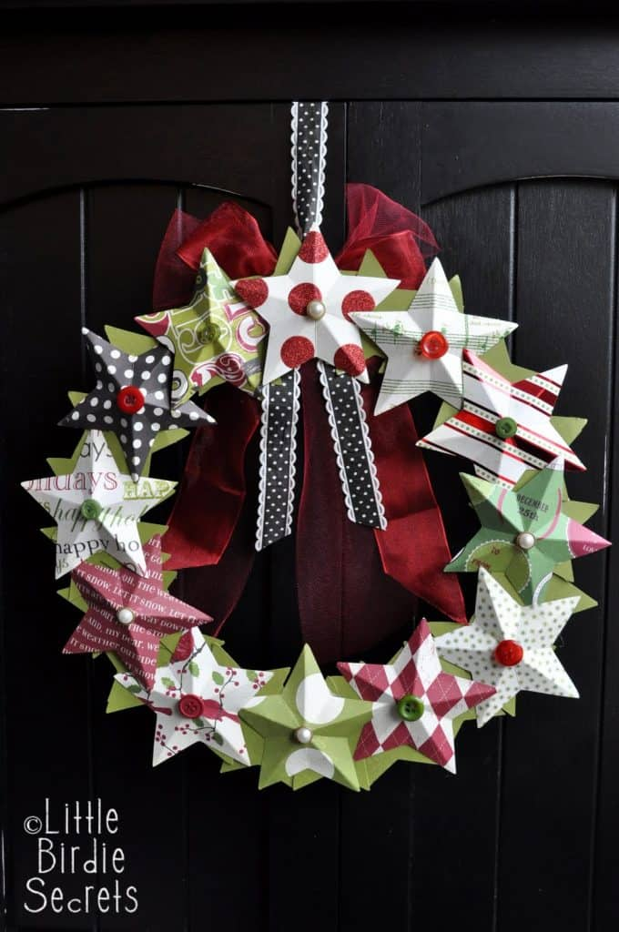 3D paper star wreath how to make