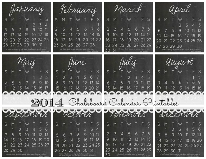 2014 DIY Calendar Case and 12 FREE Printables via createcraftlove.com #stockingstuffer #christmas #printables