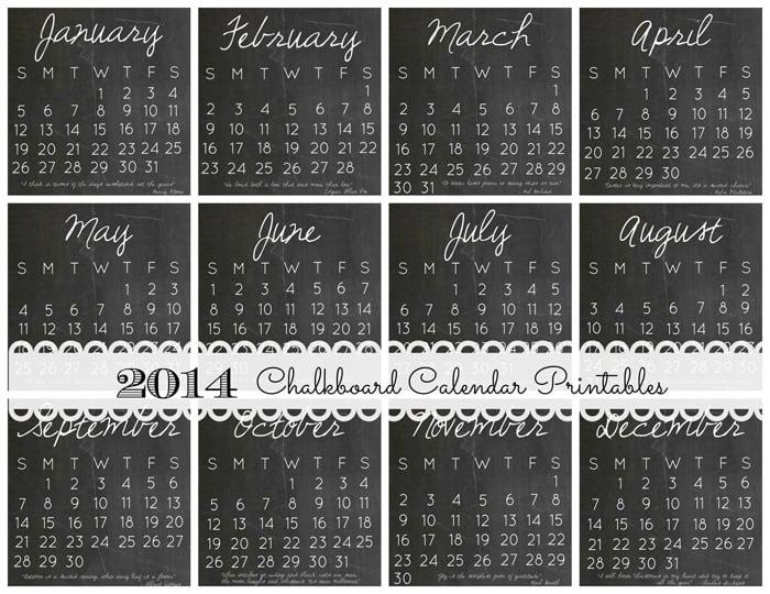 2014 DIY Calendar Case and 12 FREE Printables via createcraftlove.com #stockingstuffer #christmas #printables
