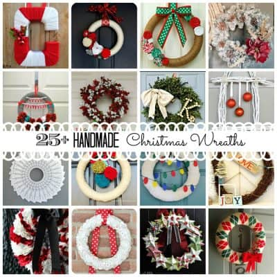 Nothing sets the tone better for your holiday gathering than a beautiful wreath to greet your guests as they arrive for the festivities! Here are 25+ Handmade Christmas Wreaths via createcraftlove.com! #christmas #wreaths