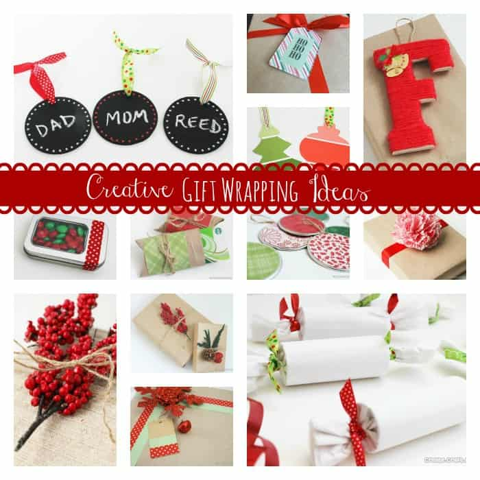 Style and personalize your gifts with these Creative Gift Wrapping Ideas! via createcraftlove.com #giftwrap #christmas
