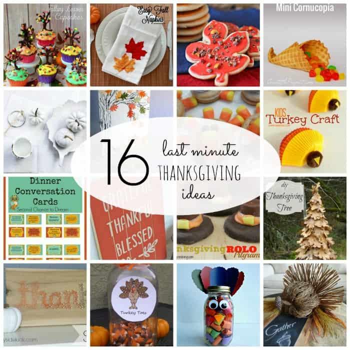 16 Last Minute Thanksgiving Ideas via createcraftlove.com #thanksgiving #features